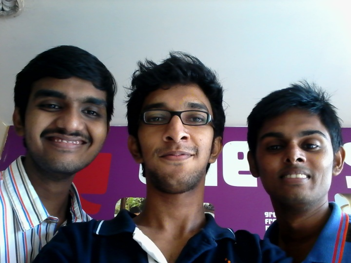 Left-->Right Achyuth, Shreyas & Gerald